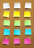 Note paper sticky notes on wood Royalty Free Stock Images