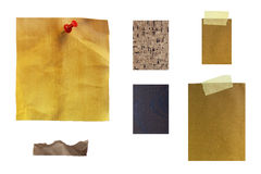 Note paper texture. Mix of notes paper texture royalty free stock image