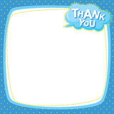 Note paper - thank you Royalty Free Stock Photography