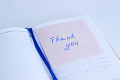 Note on the paper THANK YOU Stock Photo