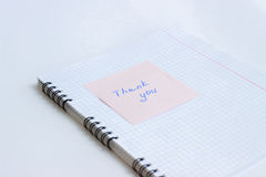 Note on the paper THANK YOU Stock Images