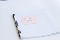 Note on the paper THANK YOU Royalty Free Stock Photos