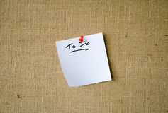 Note Paper 'To Do' list on Not Stock Photos