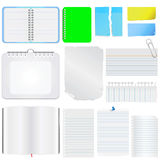 Note paper vector 2 Royalty Free Stock Photos