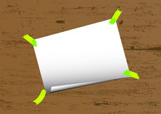 Note paper vector. Empty vector paper for your message Royalty Free Stock Image