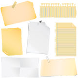 note paper vector Stock Photo