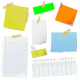 Note paper vector Stock Images