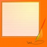 Note Paper. Vector Illustration. Stock Images