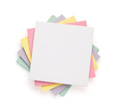 Note paper on white Stock Photography