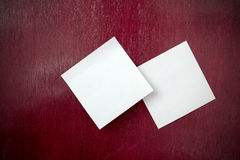Note paper on wood Royalty Free Stock Photo