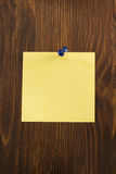 Note paper on wood Royalty Free Stock Photography