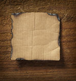 Note paper  on wooden wall business Royalty Free Stock Images