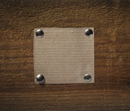 Note paper  on wooden wall business Royalty Free Stock Photo