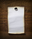 Note paper  on wooden wall business Stock Image