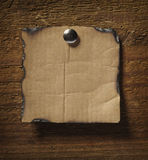 Note paper  on wooden wall business Royalty Free Stock Photography