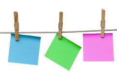 Note Papers Royalty Free Stock Photo