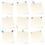 Note papers Stock Photography