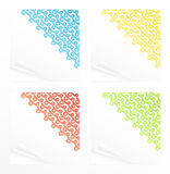 Note papers with cute ribbon abstracts Royalty Free Stock Photos