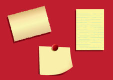Note Papers -EPS Vector- Royalty Free Stock Image
