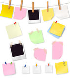 Note papers and office supplies. Stock Photography