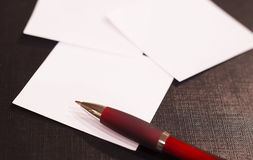 Note papers and pen Stock Image