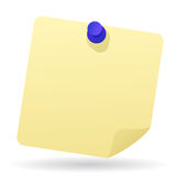 Note papers with pushpin royalty free illustration