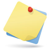 Note papers with pushpin Stock Photo