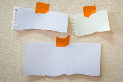 Note papers Royalty Free Stock Images