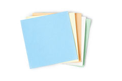 Note papers on white background Stock Image