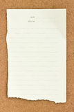 Note papers on wooden . Stock Photo