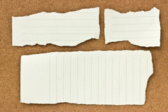 Note papers on wooden . Stock Image