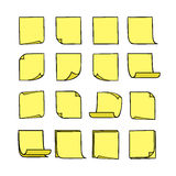 Note Papers Yellow Royalty Free Stock Photography