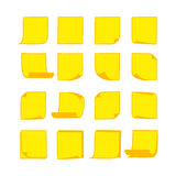 Note Papers Yellow 2 Stock Image