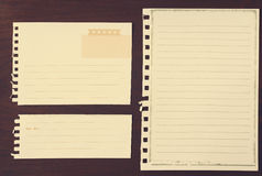 Note papers for your message Stock Images