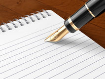 Note Pat & Pen Royalty Free Stock Photos