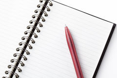 Note and pen Royalty Free Stock Photos