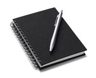 Note and pen Stock Photography