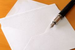 Note and pen Royalty Free Stock Image