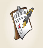 Note and Pen icons Stock Photography