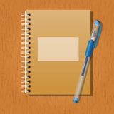 Note and a pen Royalty Free Stock Photography
