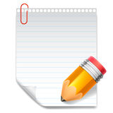 Note and pencil. Royalty Free Stock Image