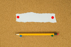 Note and pencil Stock Image