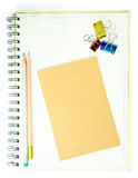 Note and Pencil Royalty Free Stock Image