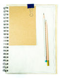 Note and Pencil Stock Photos