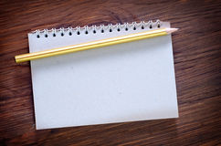 Note and pencil Royalty Free Stock Photos
