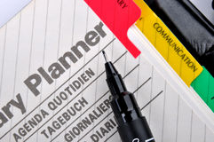 Note planner page Stock Photo