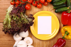 Note on a plate Royalty Free Stock Image