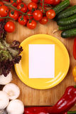 Note on a plate Royalty Free Stock Photos