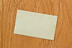 Note on ply wood background Stock Photography