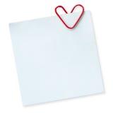Note pour le jour de l'amour Photos libres de droits